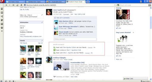 Teh Okie Agustina Sudah Jadi Friend ku di Facebook :)