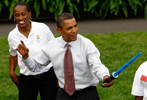 President And Mrs. Obama Host Olympic Athletes At White House