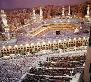 kabah wide view night